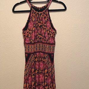 Roz&Ali Floral Keyhole Halter Maxi Dress 4 Petite